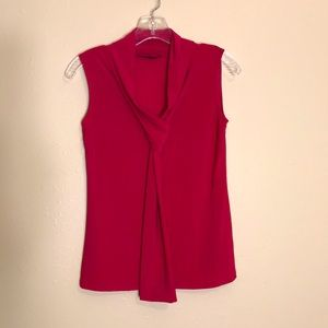 American City Wear Women Pink Sleeveless Work Top